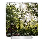 Spring Day In The Park Shower Curtain