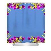 Spring Flower Frame Shower Curtain