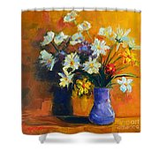 Spring Flowers In A Vase Shower Curtain