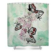Spring Flutter Shower Curtain