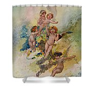 Spring From The Seasons Commissioned For The 1920 Pears Annual Shower Curtain