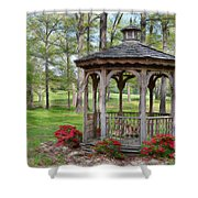 Spring Gazebo Pastel Effect Shower Curtain