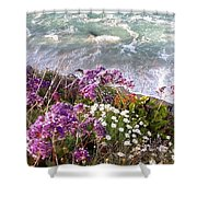 Spring Greets Waves Shower Curtain