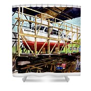 Yacht Glacier Bear Hauled Out In Gig Harbor Shower Curtain