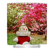 Spring Hydrant Shower Curtain