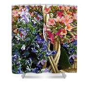 Spring In A Basket Shower Curtain