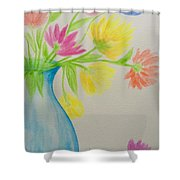 Spring In A Vase Shower Curtain