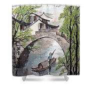 Spring In Ancient Watertown Shower Curtain