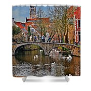Spring In Bruges Shower Curtain