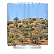 Spring In The California Hills  6950 Shower Curtain