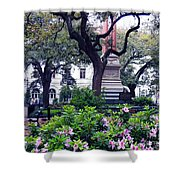 Spring In The Square Shower Curtain