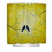 Spring Is A Time Of Love Shower Curtain