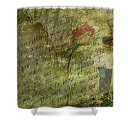 Spring Love Letter Shower Curtain