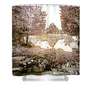 Spring Magical Fairyland Lake Shower Curtain