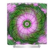 Spring Mandala For Winter Day Shower Curtain