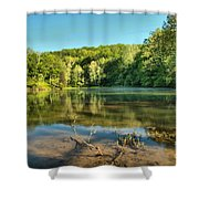 Spring Mill Lake Shower Curtain