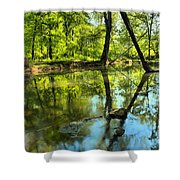 Spring Mill Reflections Shower Curtain