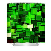 Spring Modern Abstract Xiv Shower Curtain