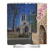 Spring Morning Brides Cottage Tickhill Yorkshire Shower Curtain
