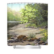 Spring On My Mind Shower Curtain
