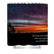 Spring Peaceful Morning Sunrise Bible Verse Photography Shower Curtain