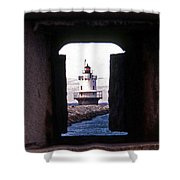 Spring Point Ledge Lightouse Shower Curtain by Skip Willits