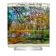Spring Pond Photoart Father's Day Shower Curtain