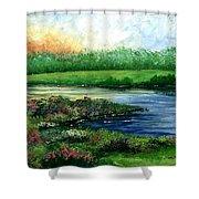 Spring Pond Shower Curtain