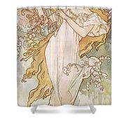 Spring Printemps Shower Curtain