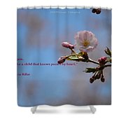 Spring Quote Shower Curtain
