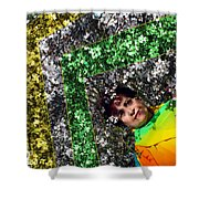 Spring Rainbow And Flowers Shower Curtain