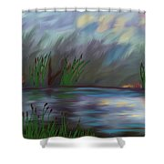 Spring Reed In The Canyon Shower Curtain