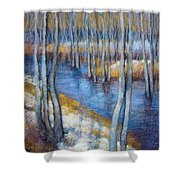 Spring River Thaw Shower Curtain
