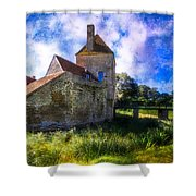 Spring Romance In The French Countryside Shower Curtain by Debra and Dave Vanderlaan