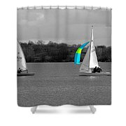Spring Sailing Shower Curtain by Jeremy Hayden