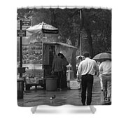 Spring Shower - Rainy Day In New York Shower Curtain