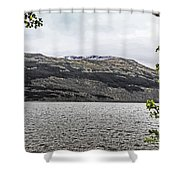 Spring Snow In The Highlands Shower Curtain