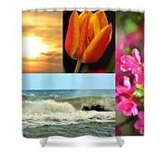 Spring Summer Collage Shower Curtain