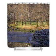 Spring Sunrise At Ring Bolt Rock Shower Curtain