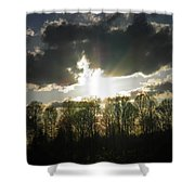Spring Sunset Shower Curtain