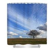 Spring Sunshine Epsom Downs Surrey Shower Curtain