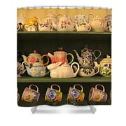 Spring Teapots  Shower Curtain