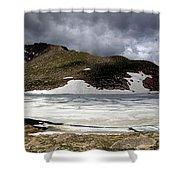 Mountain Lake Spring Thaw Shower Curtain