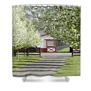 Spring Time At The Farm Shower Curtain