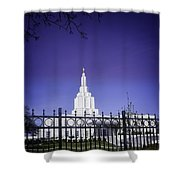 Spring Time At The Idaho Falls Temple Shower Curtain