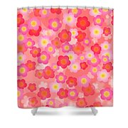 Spring Time Cherry Blossom Seamless Tile Background Shower Curtain