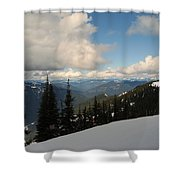 Spring Time Skiing At Crystal Shower Curtain