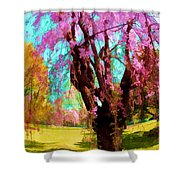 Spring Tree V Shower Curtain