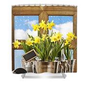 Spring Window Shower Curtain