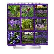 Spring Woodland Picture Window Shower Curtain
